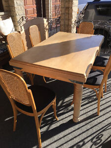 Table and 6 chairs - solid wood