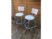Pair of breakfast bar stools £10