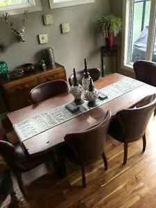 Four Hands Walnut Table and 8 Chairs