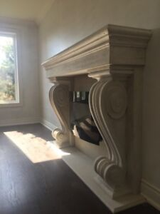 Fireplace surrounds STONE CAST***