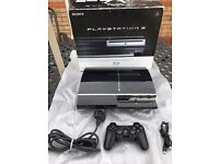 Rare PS3 60gb plays PS1 2 and 3 games