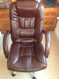 Leather study chair for sale