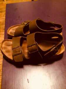 Birkenstocks - two straps on top and heel strap Gently Used