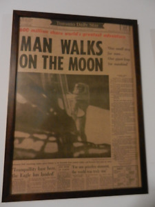 Man Walks on the Moon front page