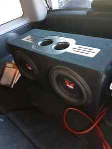 Rockford Fosgate subs in box with wiring