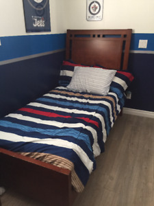 Twin Bedroom Suite with mattress and box spring (if interested)