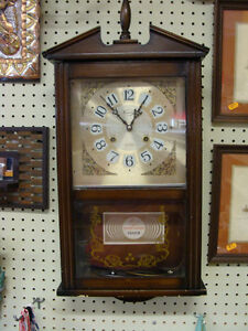 Old Chiming Super Spring Wall Clock