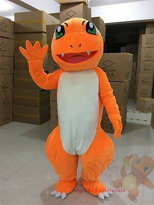 Brand Pokemon Go Charmander Dragon Mascot Costume cosplay game party Fancy Dress - Charmander Suit