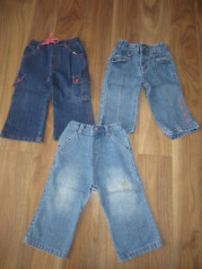 BABY GIRLS JEANS - $6.00 for LOT (3 ITEMS)