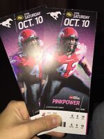 Calgary Stampeders October 10th - 2 tickets