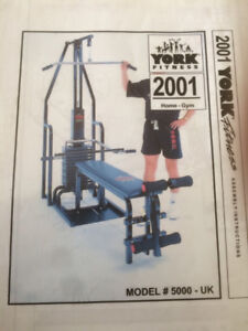 York 2001 home gym, and/or bench with free weights