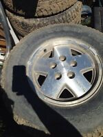 Rims and tires off chevy s10 blazer $300