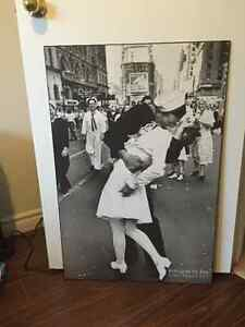 Kissing in Times Square WWII Mounted Print