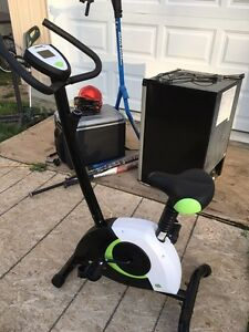 Exercise bike with large digital display information