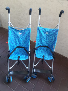 Kid's strollers  smaller size but holds up to 25 lbs.