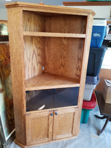 Solid Oak Entertainment Hutch