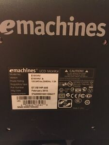 """19"""" emachines LCD monitor"""