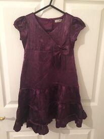 Purple Christmas dress age 3-4