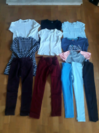Bundle of 10-11 year old girls clothes. 12 items inc, Fat Face, Next.