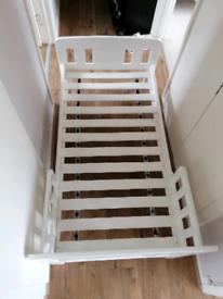 John Lewis & Partners Boris Toddler Bed, White