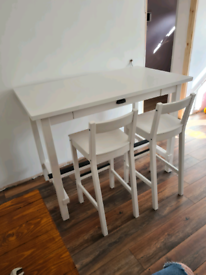 IKEA NORDVIKEN White bar table + 2 chairs