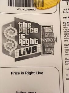 4 Price is right tickets