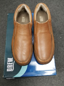 Mens Drew Bexley Shoes,  Size 11W,  light tan, slip-on loafers