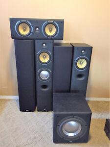 B&W speakers.  Complete set of 6
