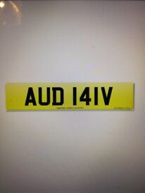 Number plate AUD 1 IV Audi, Audi A4, Audin