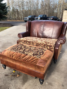Oversize Chair/loveseat and matching ottoman