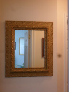 Wall Mirror Large Beautiful Antique Late Victorian