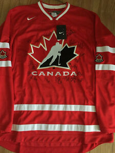 Team Canada Autographed Jersy 2014 IIHF Men's World Championship