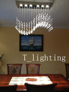 New in box crystal modern contemporary chandelier