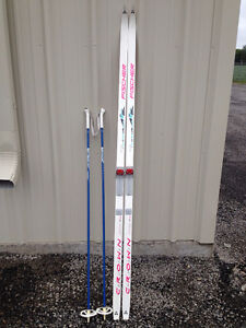Cross Country Skis and Poles ( used )