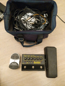 Guitar pedals and accessories - prices in description