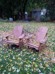 Adirondack chairs or Muskoka chairs