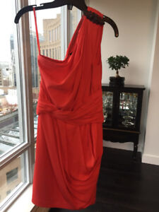 Sexy and Elegant Red Designer Dress by Robert Rodriguez, Size 4