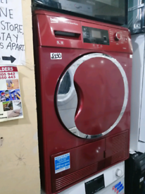➡️➡️OFFER⬅️⬅️ RED 9KG BEKO SENSOR CONDENSER TUMBLE DRYER