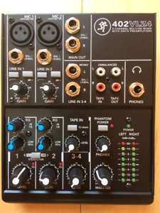 Mackie 4 channel mixer,like new!