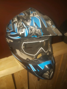 Dritbike helmet and goggles