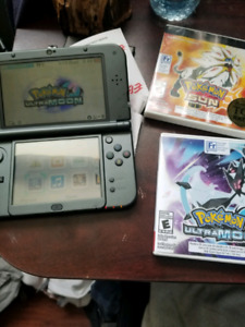 3ds xl with pokemon games and codes