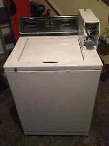 coin operated washer and dryer set complete