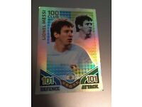 Rare Lionel Messi 100 club 2010 World Cup match attax card