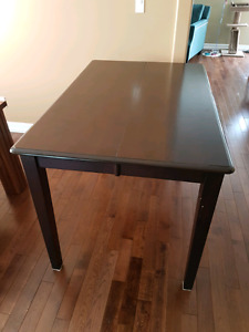 Extendable high top dining table