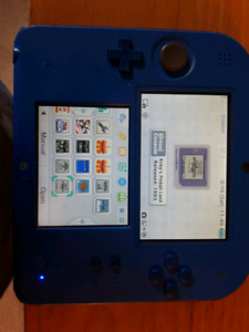 Nintendo 2DS with 9 downloaded games
