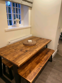 Bespoke dining tables and benches made to order Salford