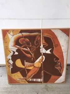 Authentic African Pictures, Spears, etc RARE FIND!!!