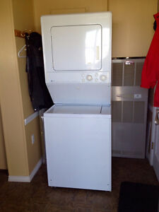 washer & dryer stacking type, make is Maytag