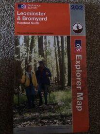 Leominster and Bromyard map