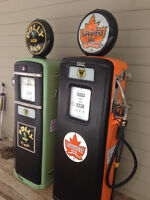 Gas Pump; Texaco, SHELL, Supertest, B/A,Red Indian, Harley, Esso